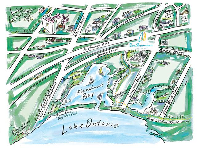San Francisco by the Bay Pickering Condo Bay Ridges Map