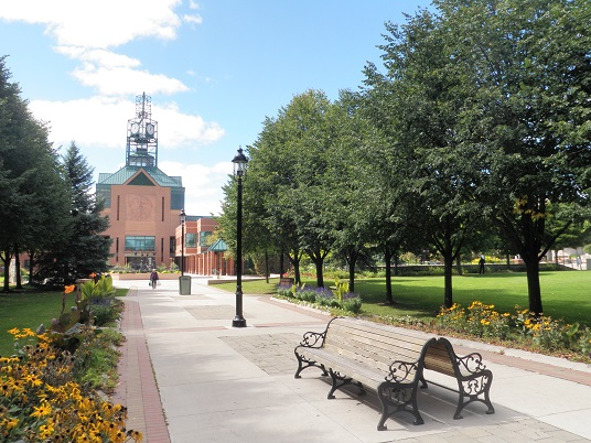 The Esplanade Park and Pickering City Hall