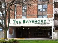 Entrance of The Bayshore Condos in Pickering