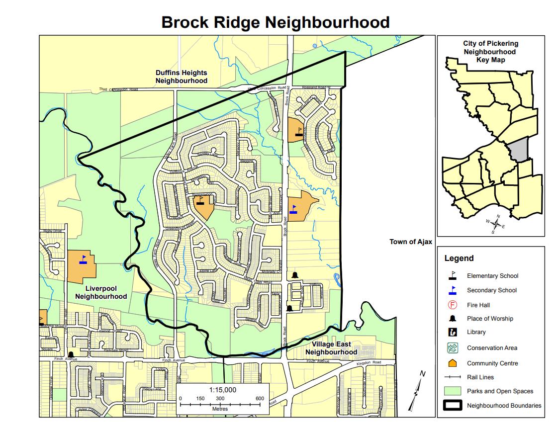 Brock Ridge Map Located in Durham Region Ontario