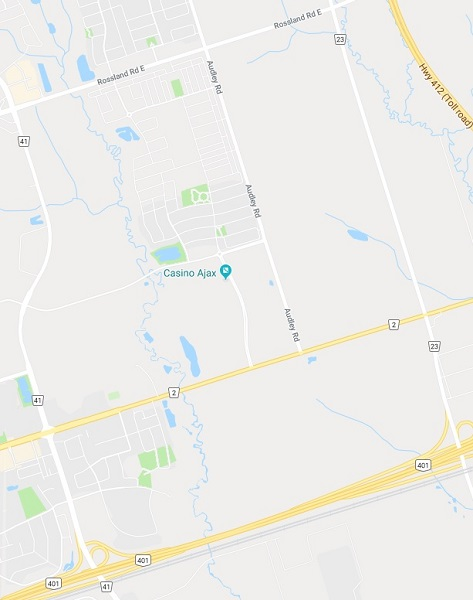 Central East Ajax Map in Ajax Durham Region Ontario