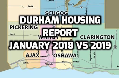 Durham Housing Report – January 2018 vs 2019