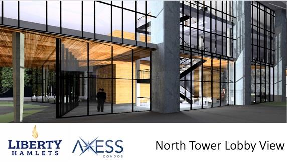 Axess Condos North Lobby View