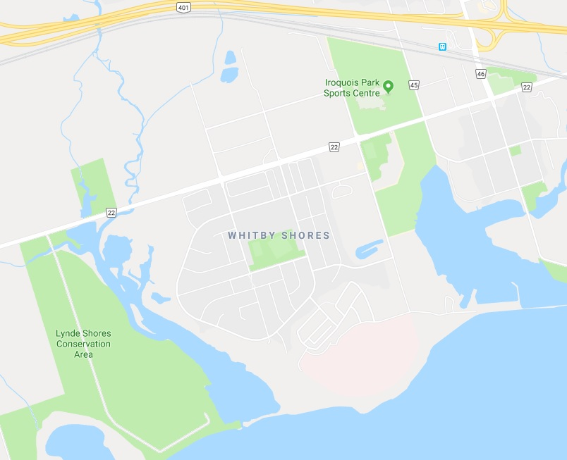 Map of Port Whitby in Whitby Durham Ontario