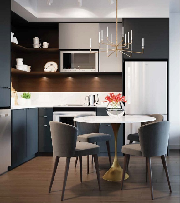 Concept Kitchen Universal City Condos in Pickering
