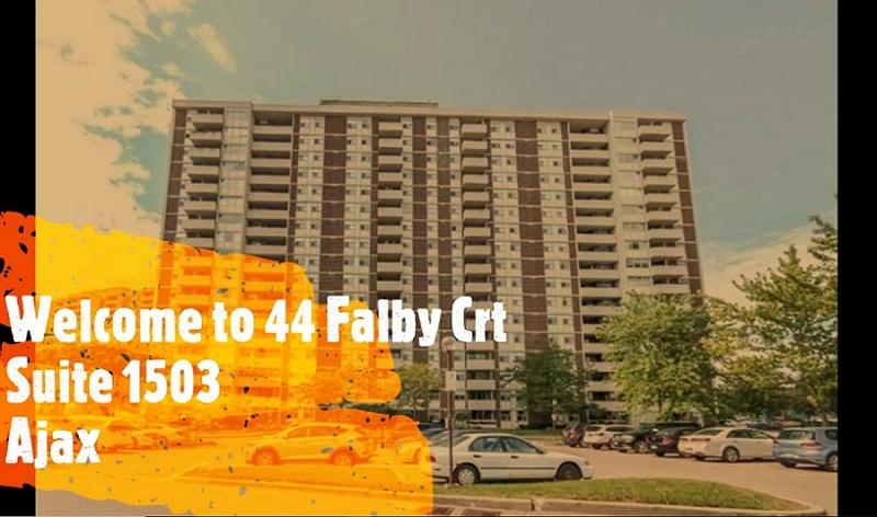 Spacious 2 Beds, 2 Baths Ajax Condo at 44 Falby Crt